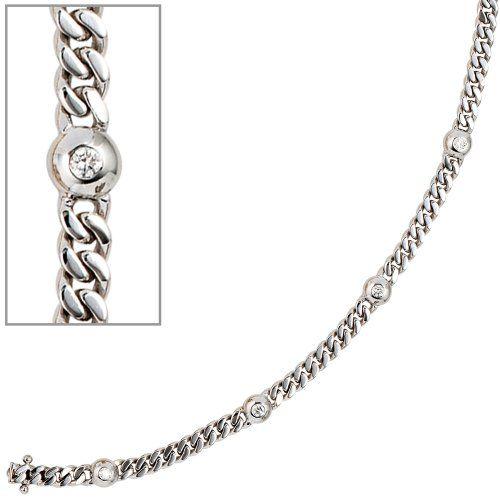 Damen-Armband 6 Diamant-Brillanten 14 Karat (585) Weißgold 0.30 ct. 19 cm Dreambase http://www.amazon.de/dp/B00ABYVDPG/?m=A37R2BYHN7XPNV