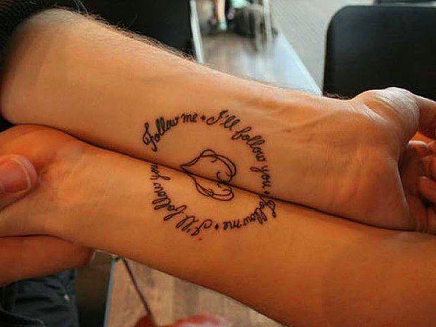 17 Tatuajes de Parejas Enamoradas. Querrás Hacerte el #7