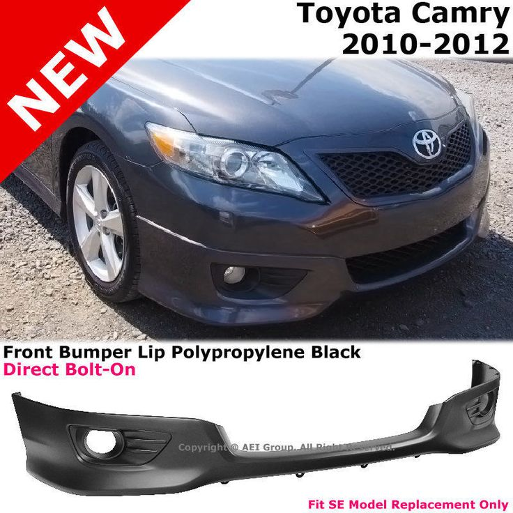 Nice Great Toyota Camry 10-12 Front Bumper Lower Lip Spoiler Valance SE Style Replacement 2017/2018