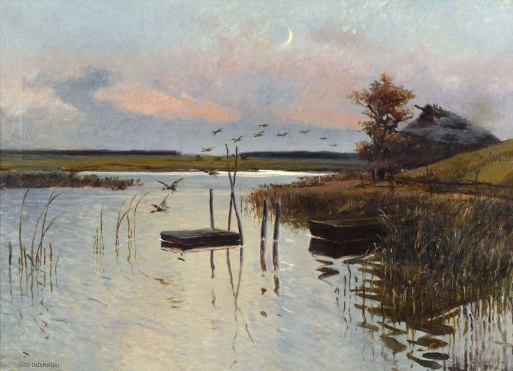 """Chełmoński Józef (1849-1914) """"Kaczki nad wodą"""""""