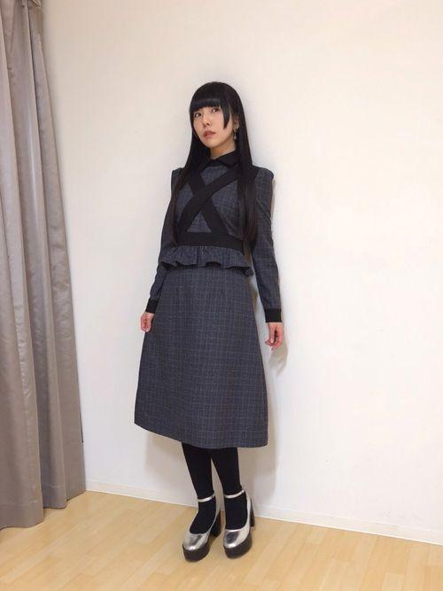 26159d1817898f 相沢梨紗|EATMEのワンピースを使ったコーディネート | My WEAR | ワンピース、ファッション、相沢