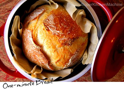 Thermomix bread recipe for @Krista Zamboldi . Don't know if you have the cast iron dutch oven.