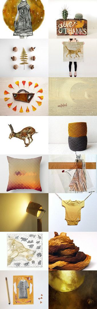 Golden Harvest Moon by kelly spider on Etsy--Pinned with TreasuryPin.com