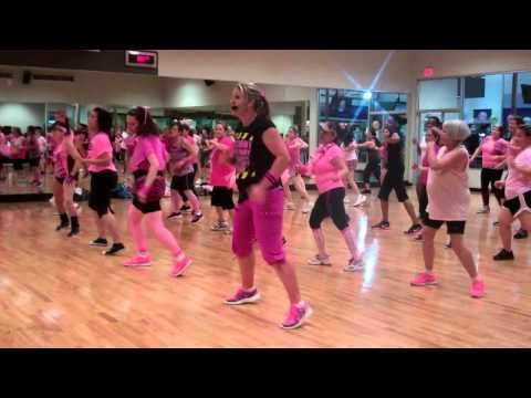 "Zumba ""La Palestina"" with intsructor Amber Blanch. LOVE the moves in this one!"