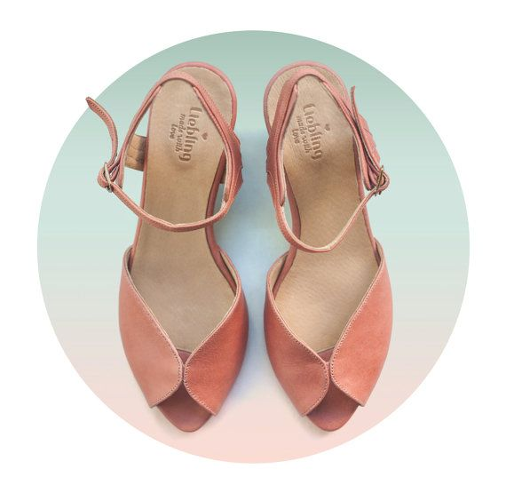 Women pink sandals, women's shoes, handmade Leather shoes, women sandals by Liebling on etsy. Free shipping. Adele model.