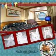 I love this page!  I always take a picture of my cabin and every towel animal.  Both are incorporated so nicely here.