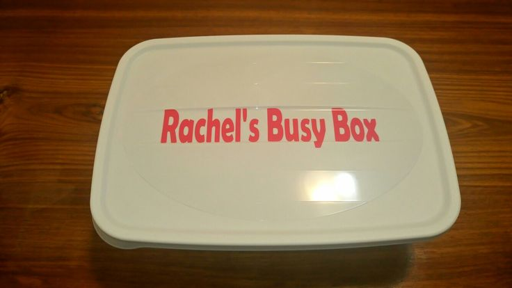 Busy box for potty training!