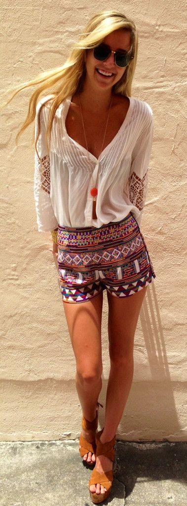Color Block Summer Shorts