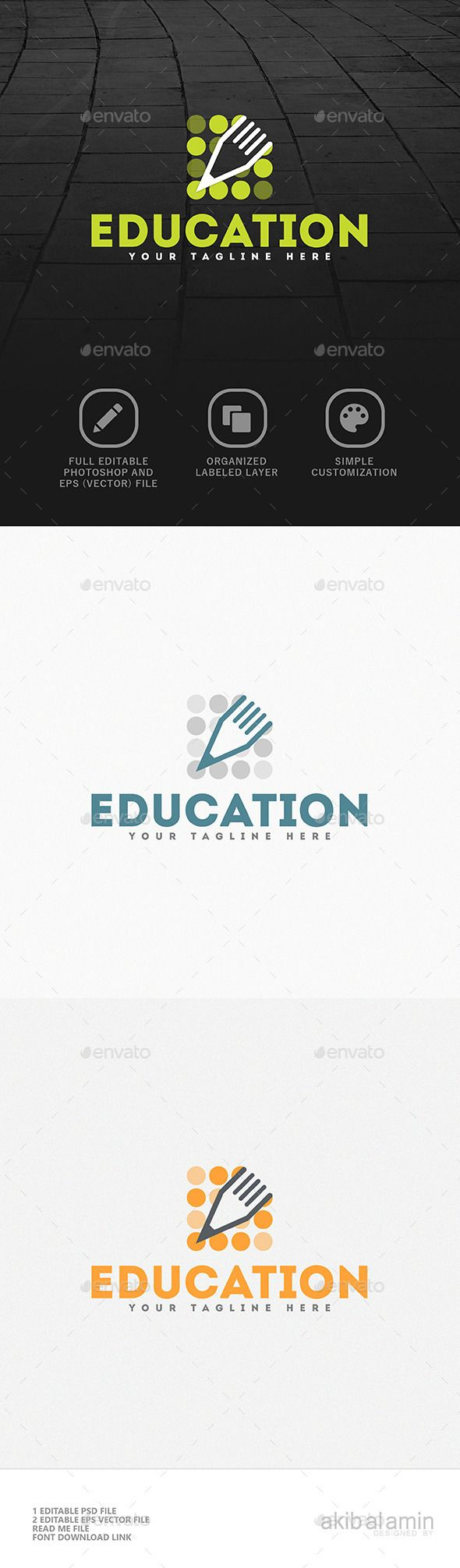 Educational  V1 - Logo Design Template Vector #logotype Download it here: http://graphicriver.net/item/educational-logo-v1/10762472?s_rank=531?ref=nexion