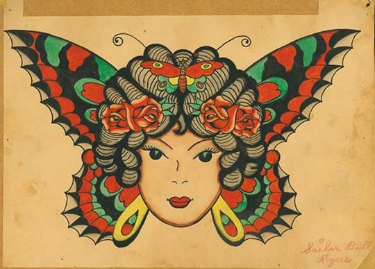 Exhibition a print salon beautiful a lady and sailor jerry for Sailor jerry gypsy tattoo
