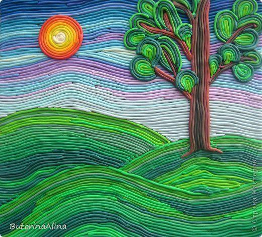 Картина панно рисунок Мастер-класс 8 марта Аппликация из пластилина + обратная Пластилиновая живопись Пластилин фото 22: