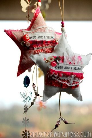 Make some hand made ornaments out of fabric scraps