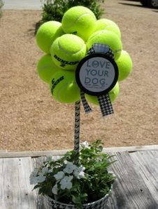 How to make a Tennis Ball Topiary! Great for puppy party or that fund raiser for the New Dog Park.