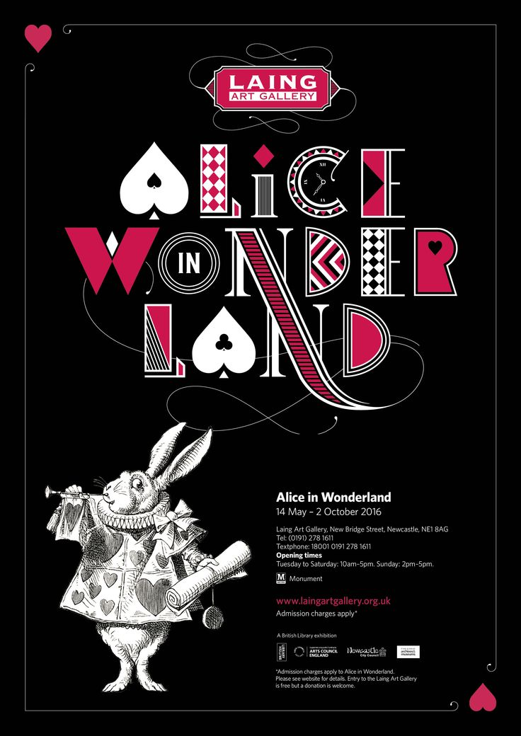 Alice in Wonderland, the exhibition from the British Library, is on show at the Laing Art Gallery in Newcastle from 14 May to 2 October 2016.