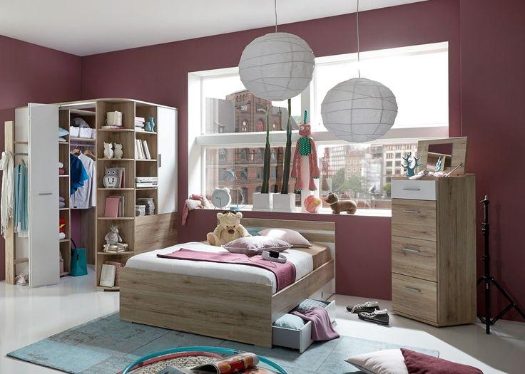Vintage Jugendzimmer komplett Joker Kinderzimmer San Remo Eiche mit Wei Mit diesem Jugendzimmer komplett vom Hersteller Wimex treffen Sie eine gute Wahl