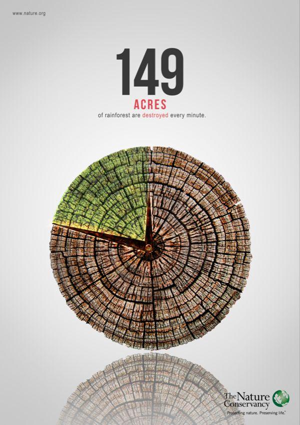 Deforestation Poster by Sutowar Fui, via Behance