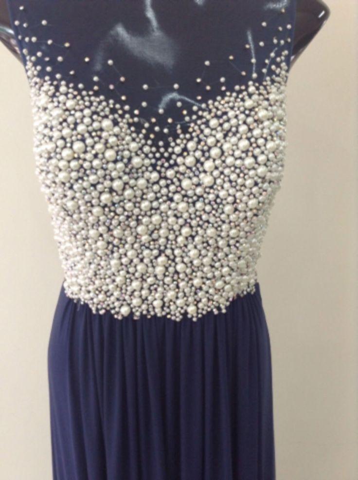 vestido pérolas - vestidos de festa jovani   Bordados ...
