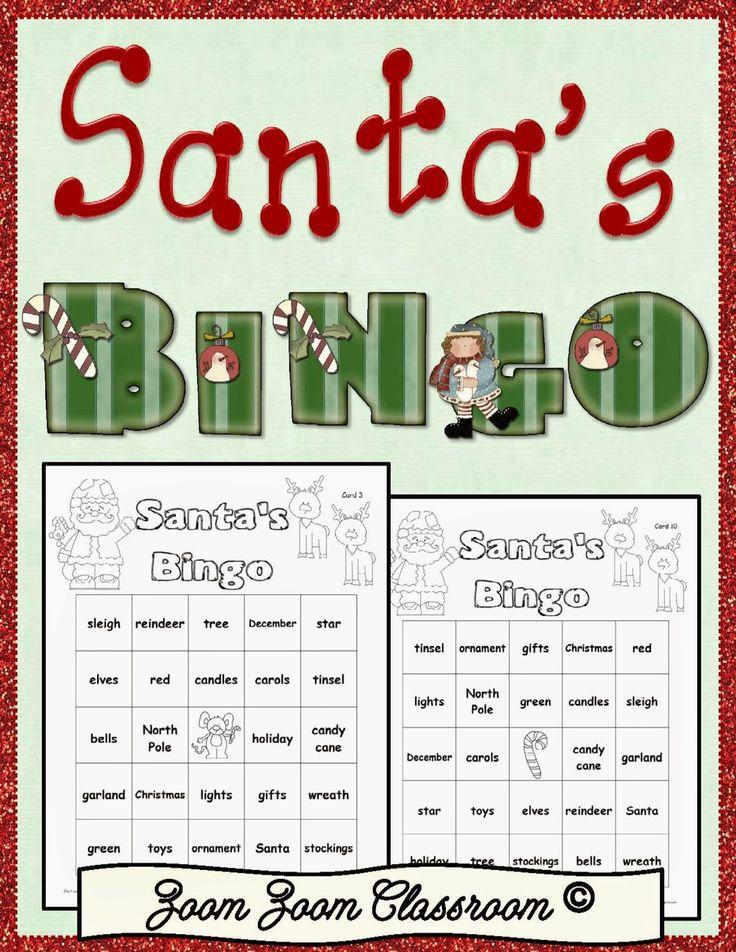 Zoom Zoom Classroom Santa's Bingo Santa bingo