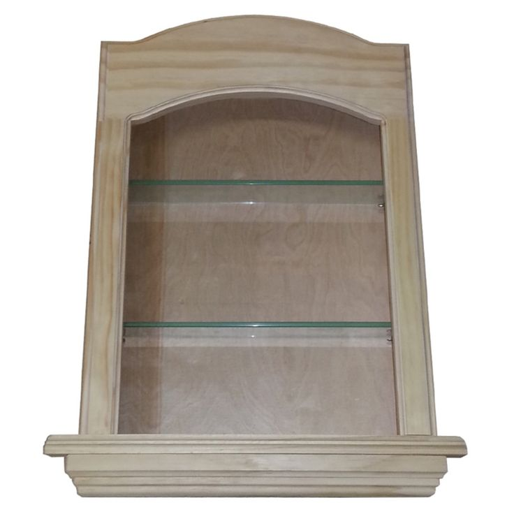 WG Wood Lawrence Niche 17W x 21.5H in. Curved Top Recessed Wall Cabinet - LAW-418
