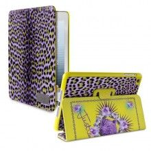Forro iPad 2 3 Retina Just Cavalli - Booklet Funcion Soporte Micro Leopard Violeta  Bs.F. 525,54
