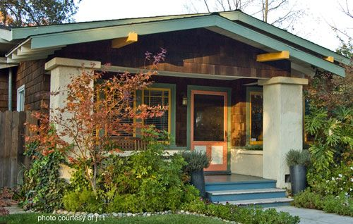 Amazing craftsman style home and front porch. Front-Porch-Ideas-and-More.com  #porch #columns