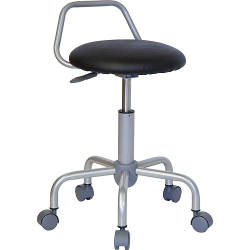ergonomic stool with backrest black