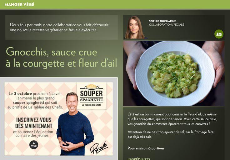 Gnocchis, sauce à la courgette et fleur d'ail - La Presse+