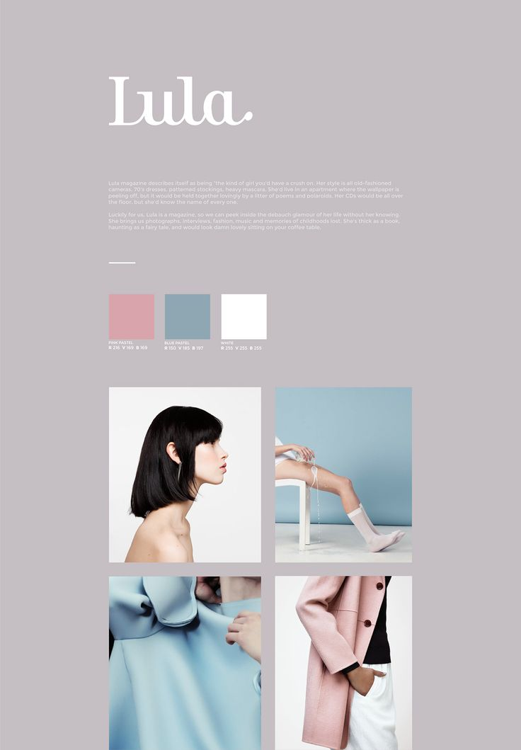 Created a new web site for Lula magazine, brought up to date in a sleek and…