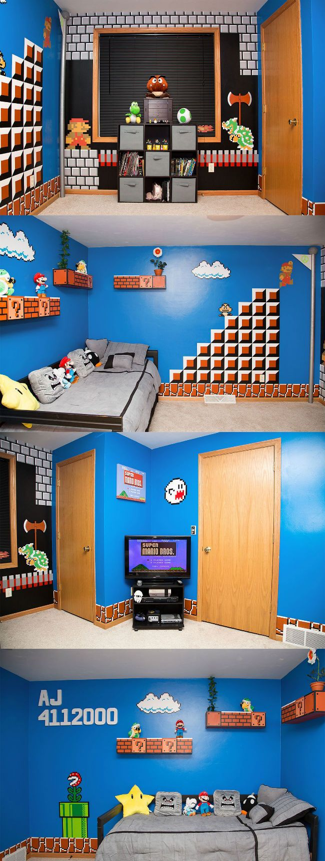 Best bedroom EVER! #Mario