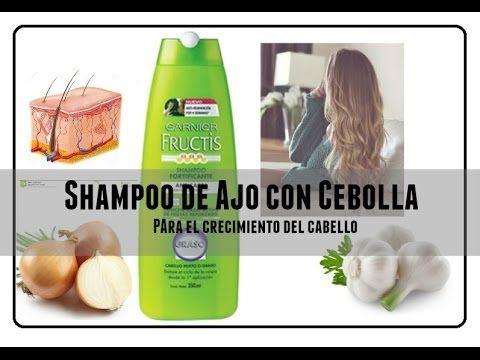 TRATAMIENTO de ajo y cebolla para estimular el crecimiento del cabello y detener la caída - YouTube
