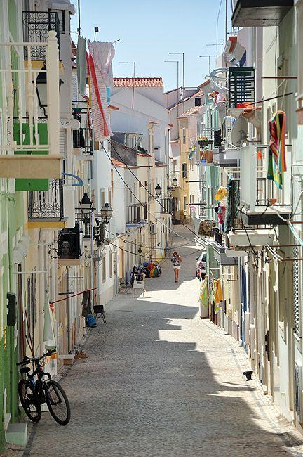 pedestrian street of Nazaré, a photo from Leiria, North   TrekEarth