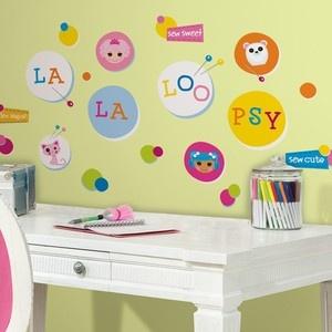 New LALALOOPSY POLKA DOTS WALL DECALS Girls Bedroom ...
