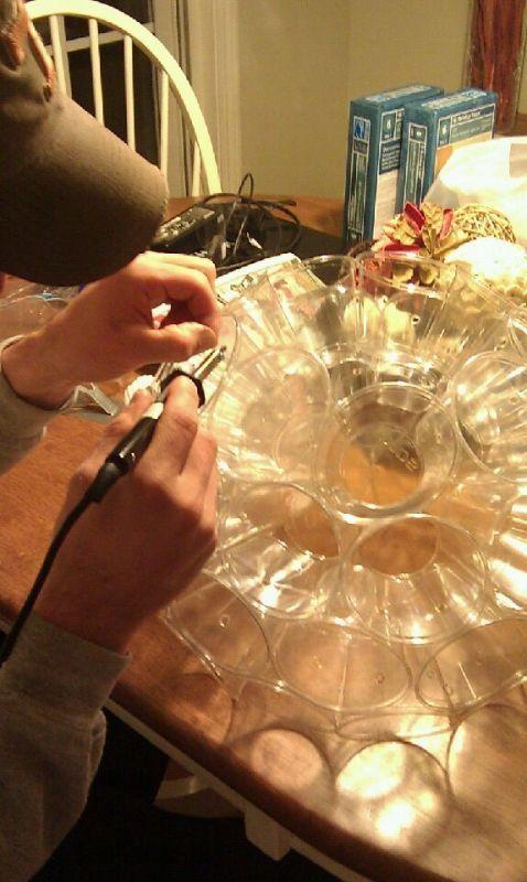 Solo Cup Lanterns :  wedding diy lantern lighting lights reception Light3