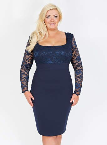 Gemma Collins Navy Blue Georgia Dress