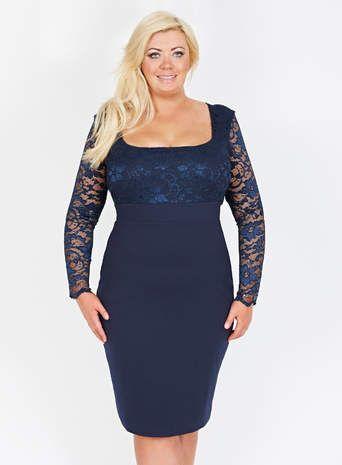 Gemma Collins Navy Blue Georgia Dress