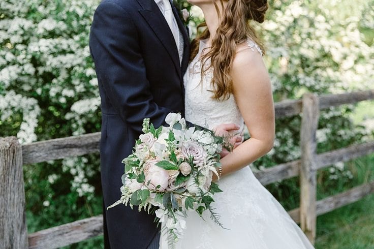 Bridal blush bouquet of Notley Abbey Wedding by Wild Orchid, image by Natalie J Weddings