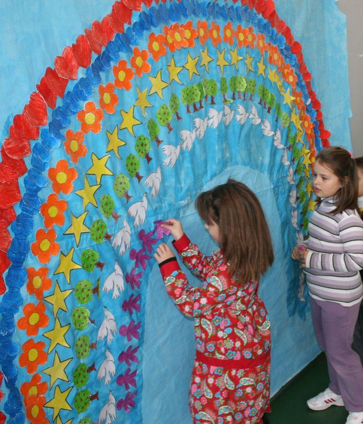 Las 25 mejores ideas sobre mural de jard n en pinterest for Mural de los 5 sentidos