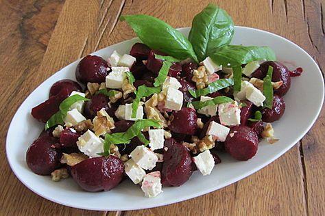 Rote Bete - Salat mit Schafskäse, ein gutes Rezept aus der Kategorie Gemüse. Bewertungen: 36. Durchschnitt: Ø 4,5.