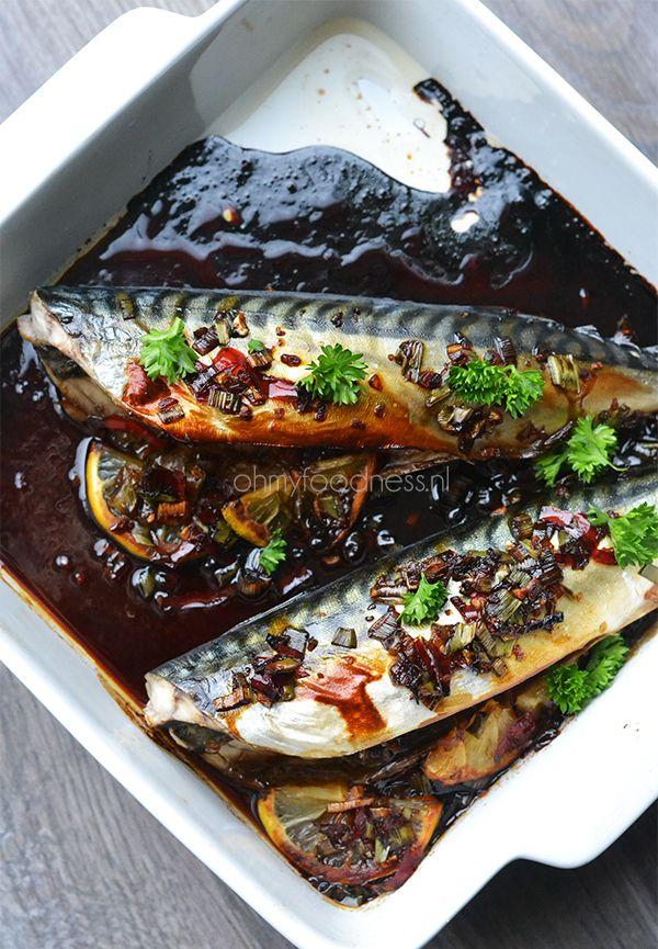 Oosterse makreel uit de oven - OhMyFoodness