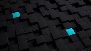Preview Wallpaper Cubes Structure Black Blue 1366x768 3d Wallpaper Tablet Wallpaper Keren Laptop Wallpaper