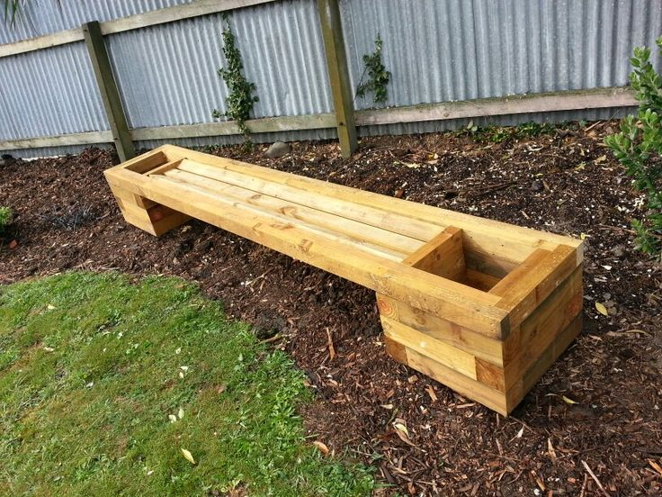 Seating with planter boxes