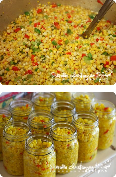 Canning Corn Relish - My Crazy Life as a Farmers Wife