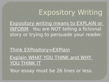 staar expository essay writing prompts Expository writing rubric fall 2011 staar english i expository writing score point 1 and responsive to the specific demands of the prompt the essay is.