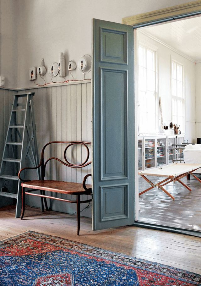 A Swedish artist's home in a former school house. Photo: Martin Löf.