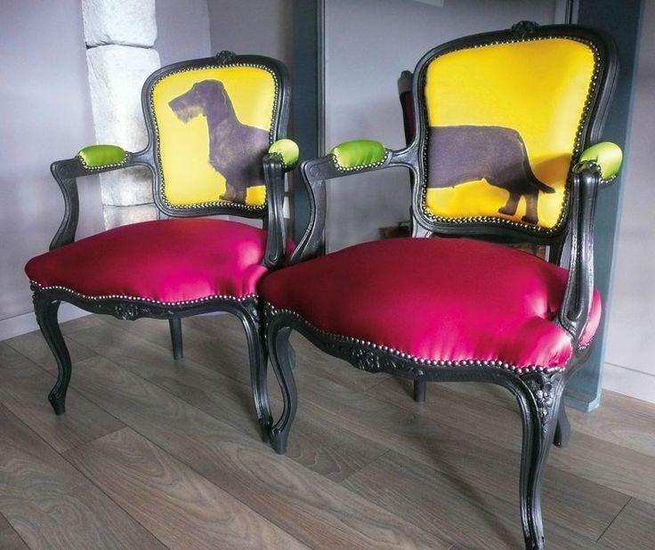 cabriolets louis xv teckel poils durs id es si ges pinterest. Black Bedroom Furniture Sets. Home Design Ideas