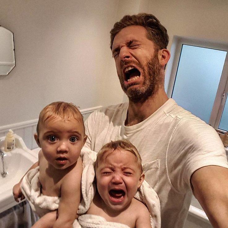 Agacé par la vie trop parfaite des gens sur Instagram, ce papa de 4 filles partage ses photos pour montrer la réalité du quotidien des parents avec beaucoup d'humour