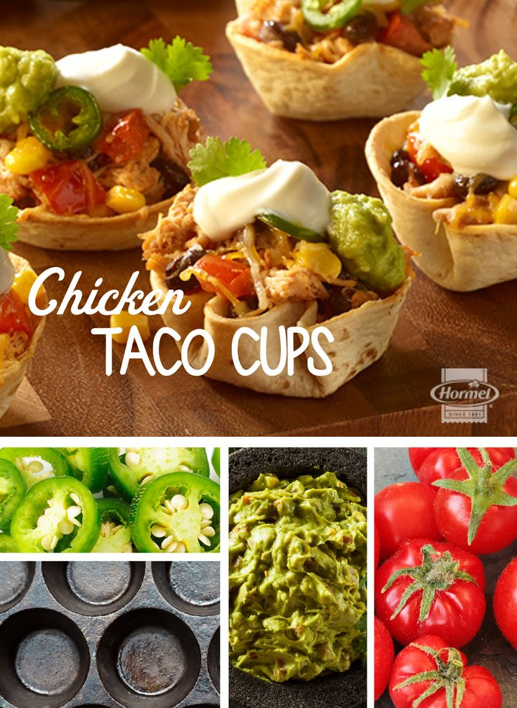 Loaded with taco fixings like seasoned shredded chicken, crisp corn kernels, black beans and fiery jalapeno slices, you'll taste a fiesta of flavor in every cup! Serve alongside tasty toppings like salsa, guacamole and sour cream to create an appetizer that's equal parts flavorful and colorful.