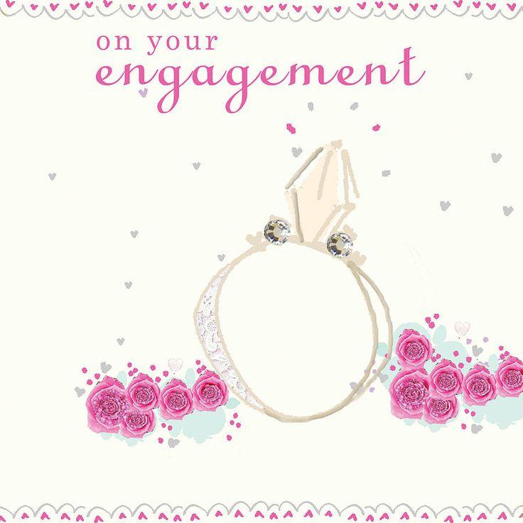 large handmade engagement card by laura sherratt designs | notonthehighstreet.com