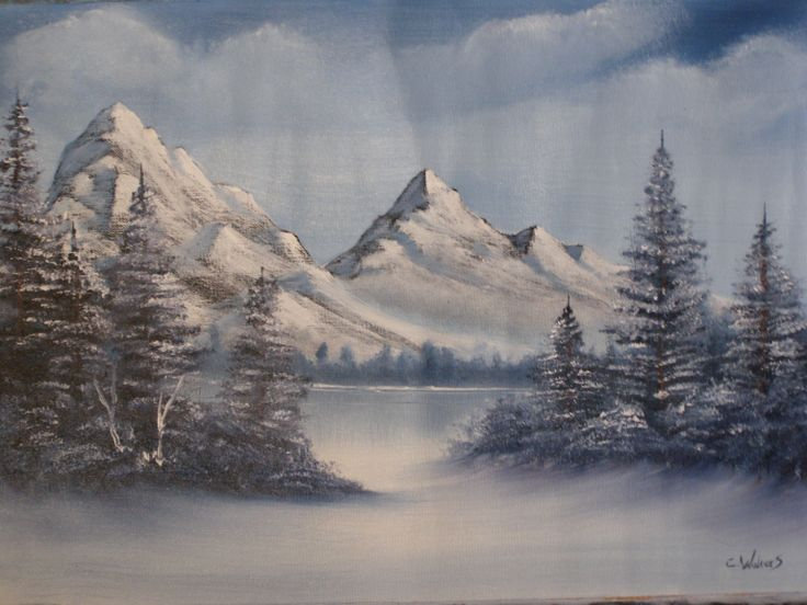 Frozen Wilderness oil painting 22 x 16 by      C Walters