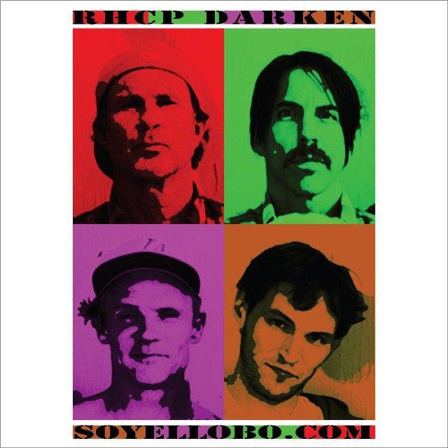 RHCP DARKEN. Warhol Style.  #art #arte #artedigital #digitalart #pop #popart #comic #ilustración #paint #sketch #draw #bocetos #colors #adobe #illustrator #photoshop #muyROCK  #rockart #skateart #punkart #hiphop #hiphopart #andywarhol #rhcp #redhotchilipeppers #diseño #design